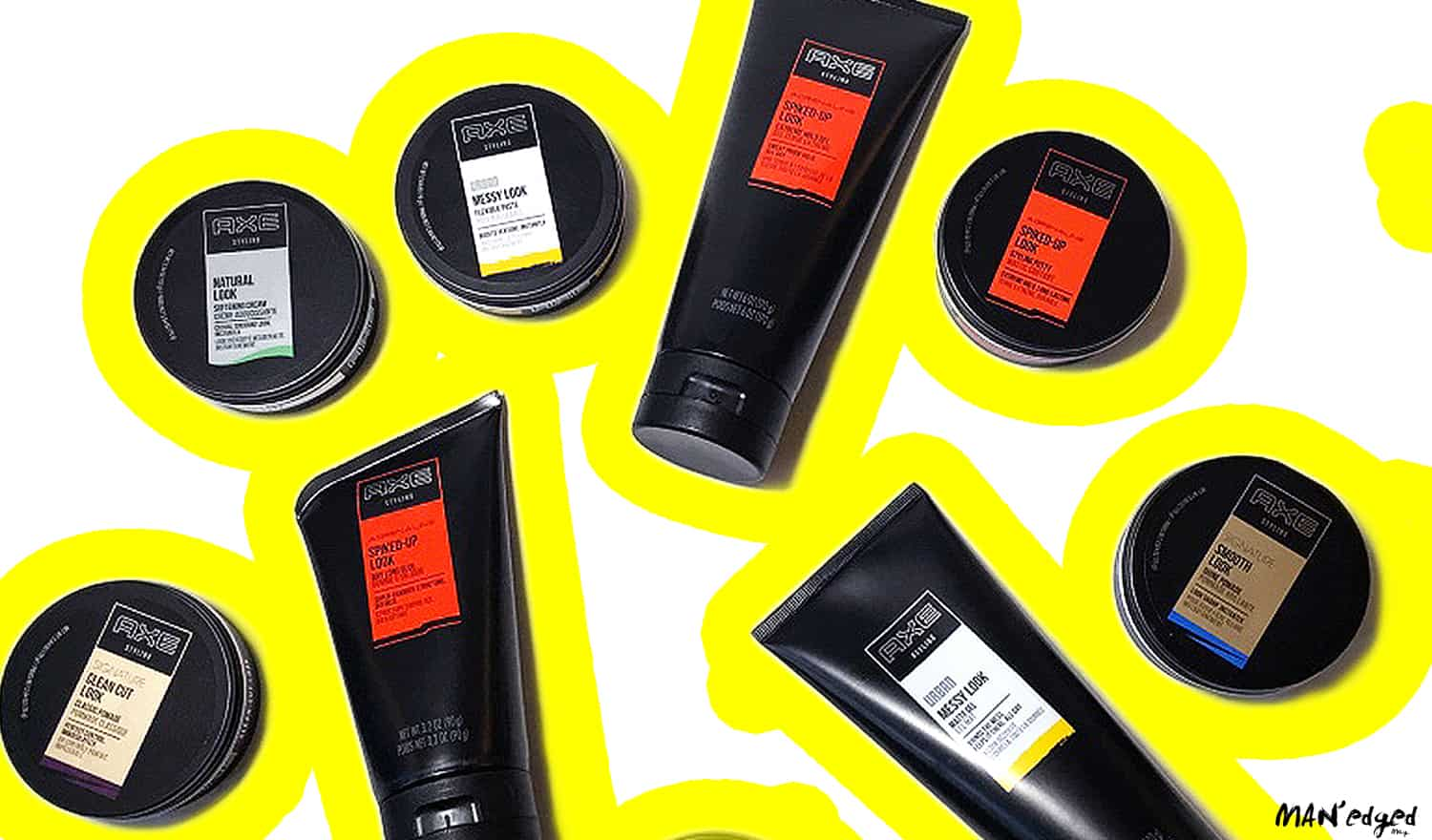 The new men's axe grooming product selection featuring new product packaging.