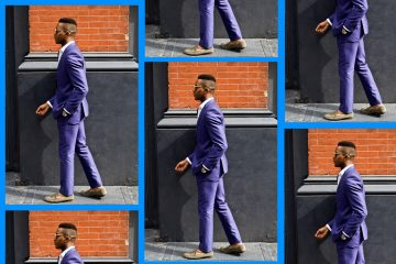 dapper gent, igee okafor, blue men's suit, men's style, men's look, new york, new york city, men's fashion