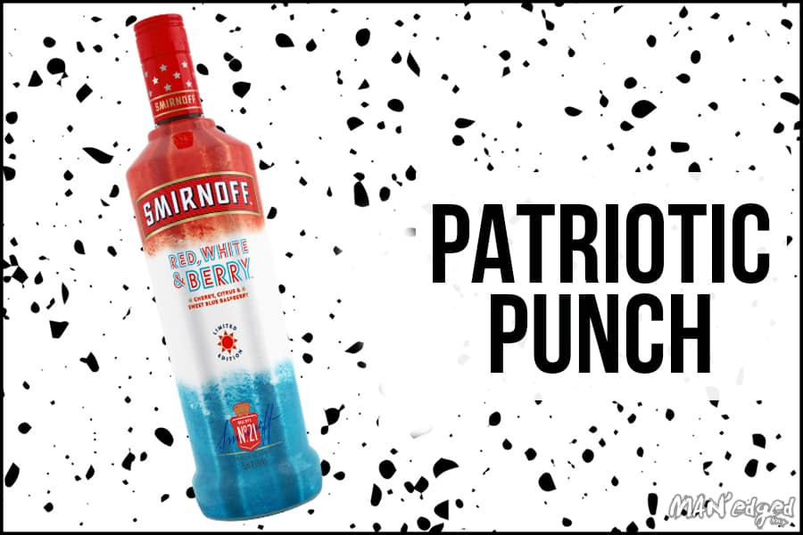 Smirnoff Red White and Berry featured in the patriotic punch best summer cocktail for MAN'edged Magazine
