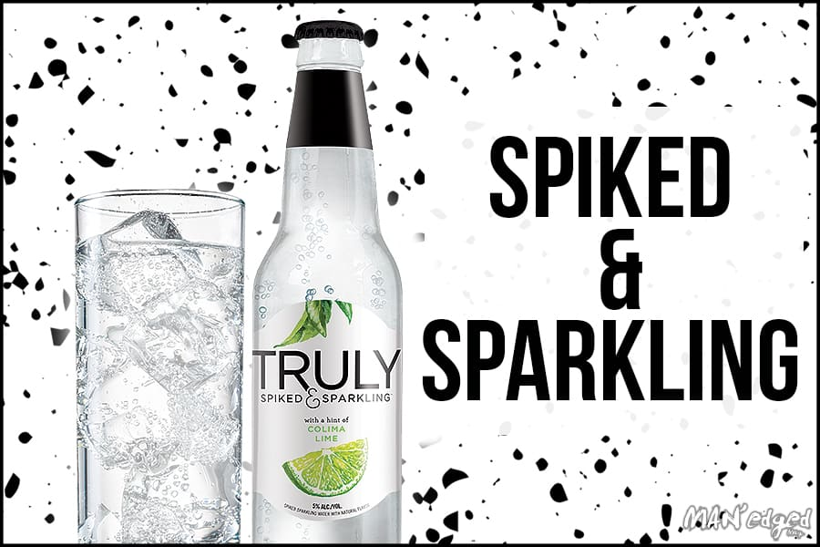 Truly Spiked Sparkling water featured in the spiked & sparkling best summer cocktail for MAN'edged Magazine
