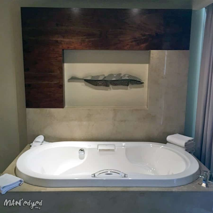 The epic whirlpools in the Wellness Suites.