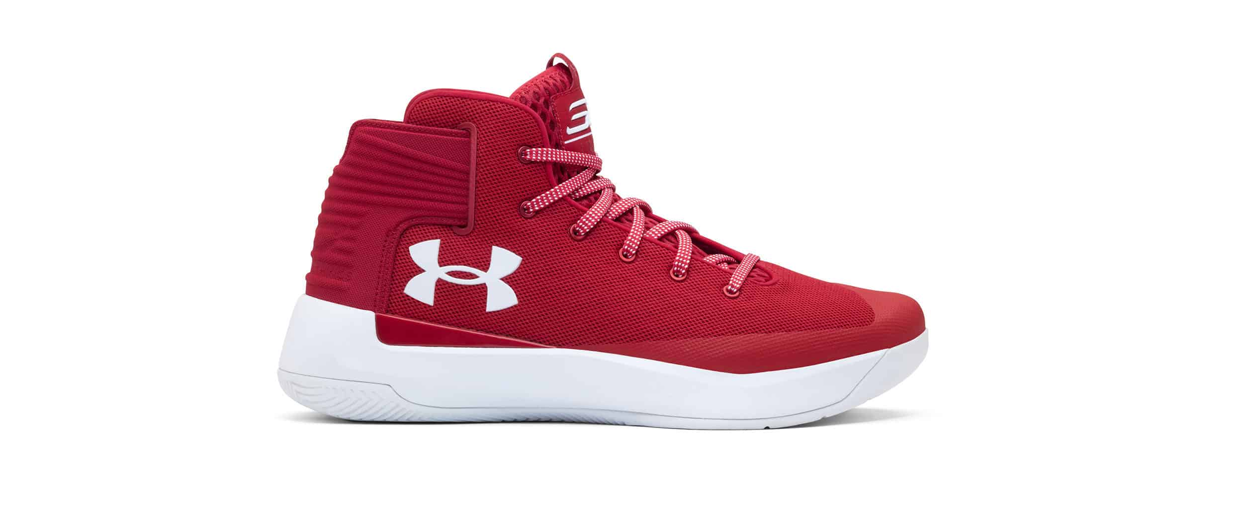 red mens basketball shoes