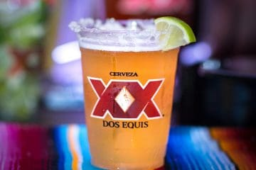 Dos-a-rita cocktail featuring dose equis beer in a margarita, cinco de mayo