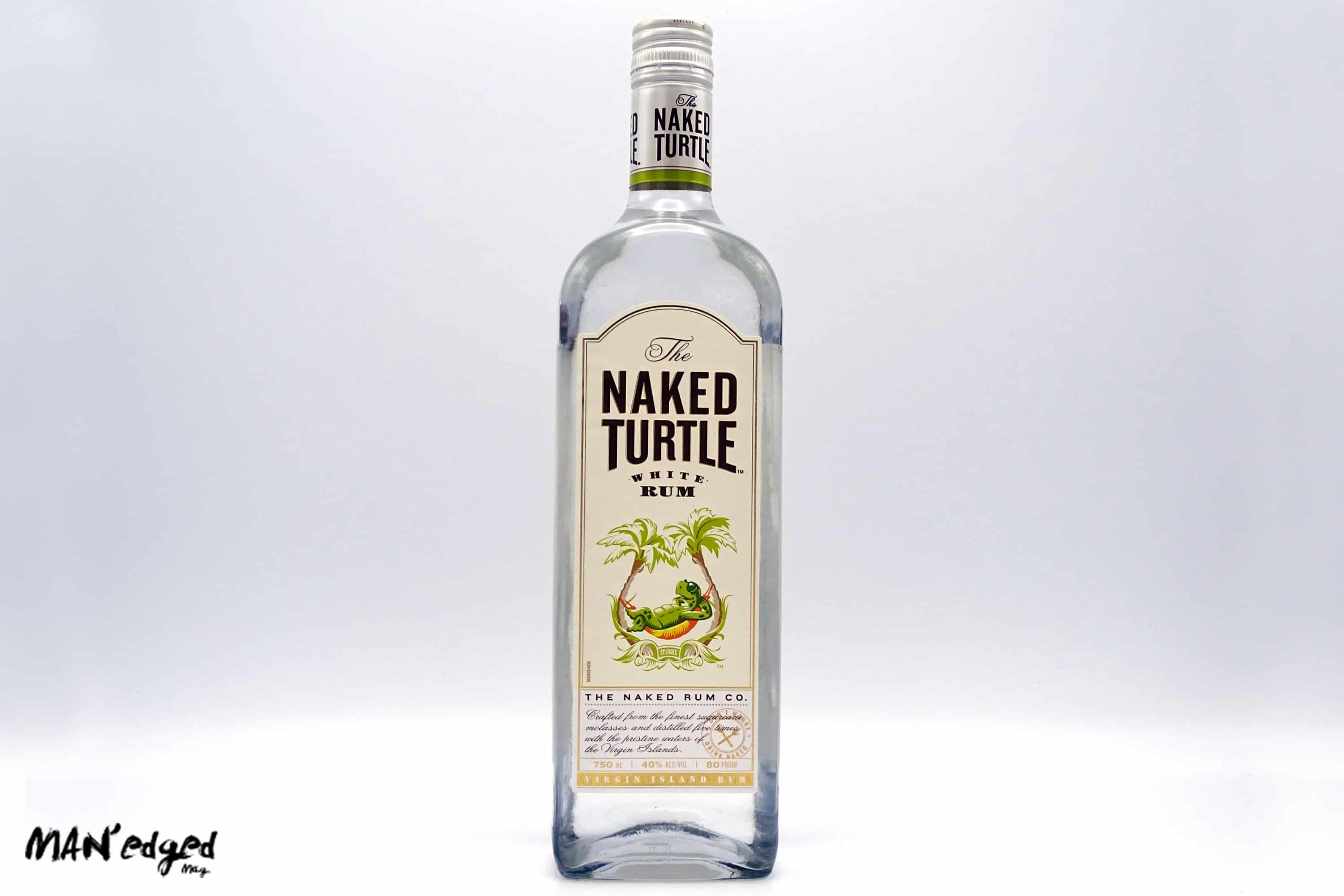 Best 4th of July Cocktail bottle of Naked Turtle White Rum