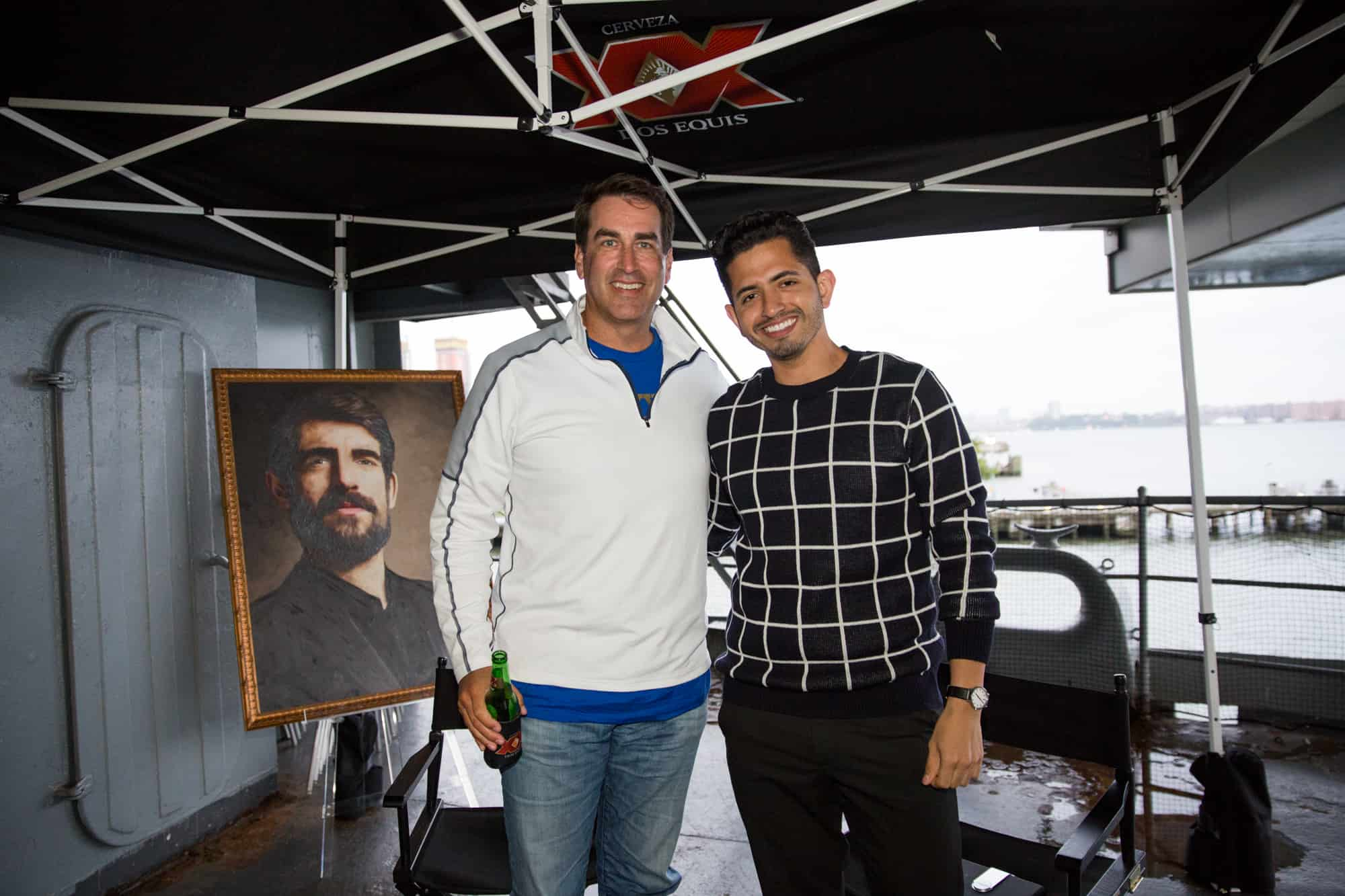 Actor and Comedian Rob Riggle with MAN'edged Media Founder Michael William G.