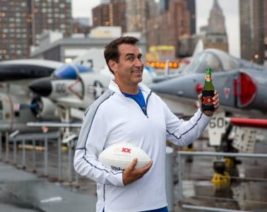 Rob Riggle with Dos Equis