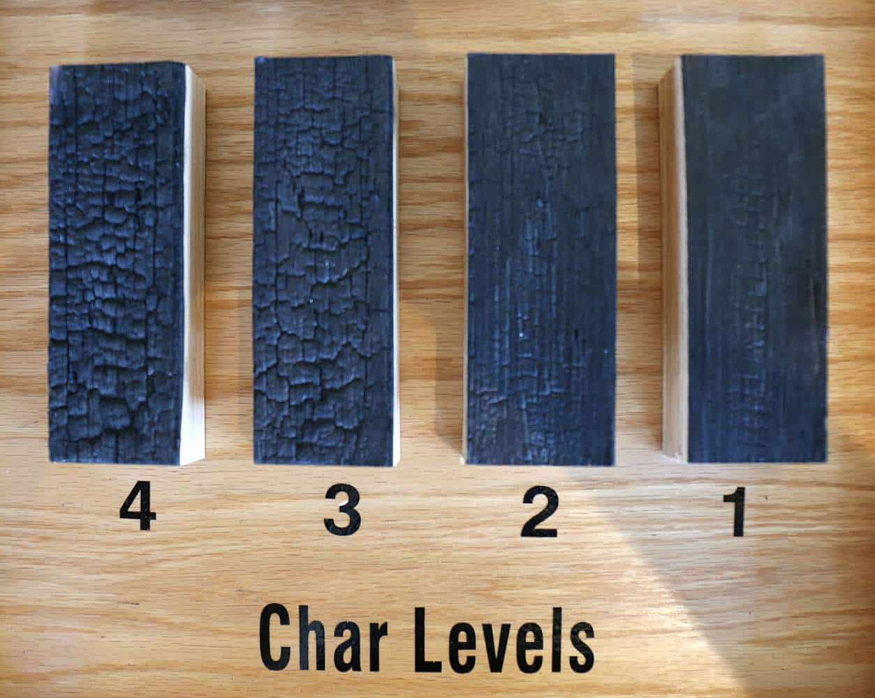 Char levels. Image via Wild Turkey.
