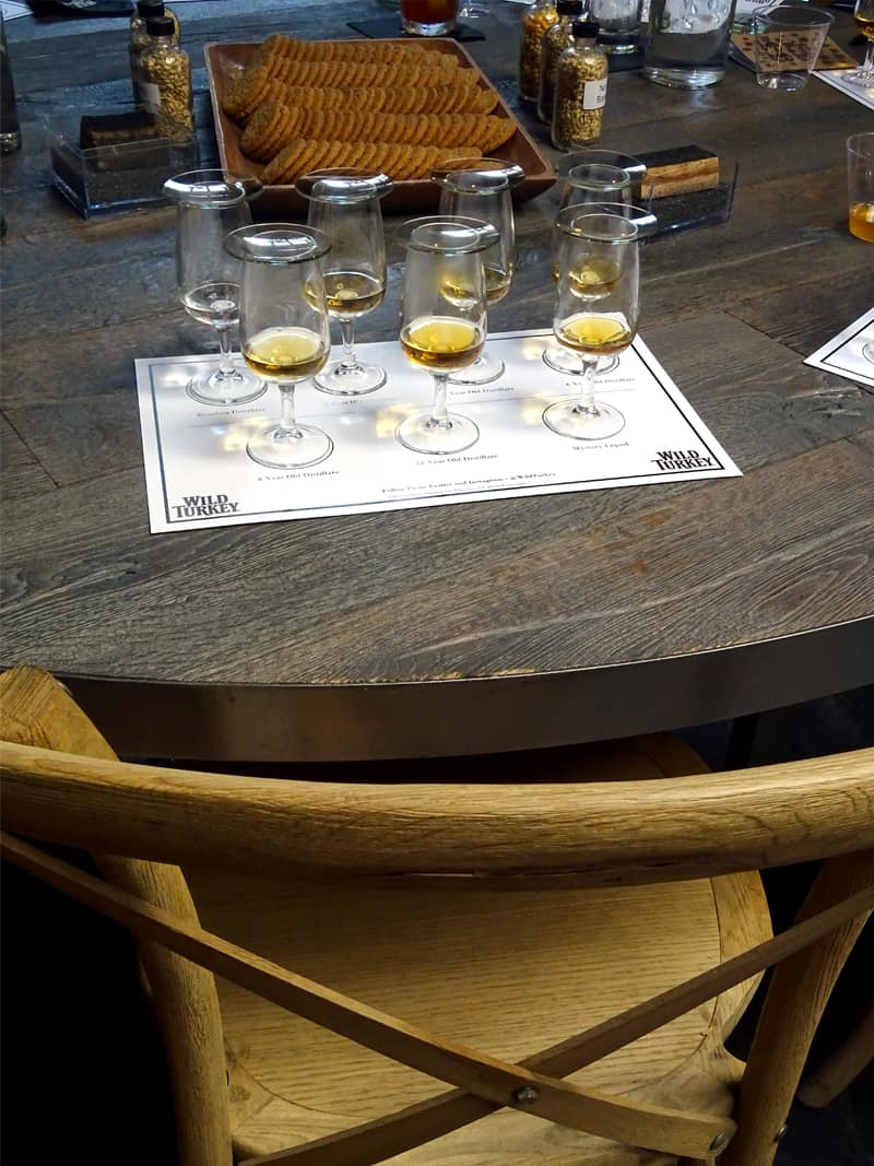 bourbon whiskey tasting with Wild Turkey at the Roost Bar & Lounge in NYC