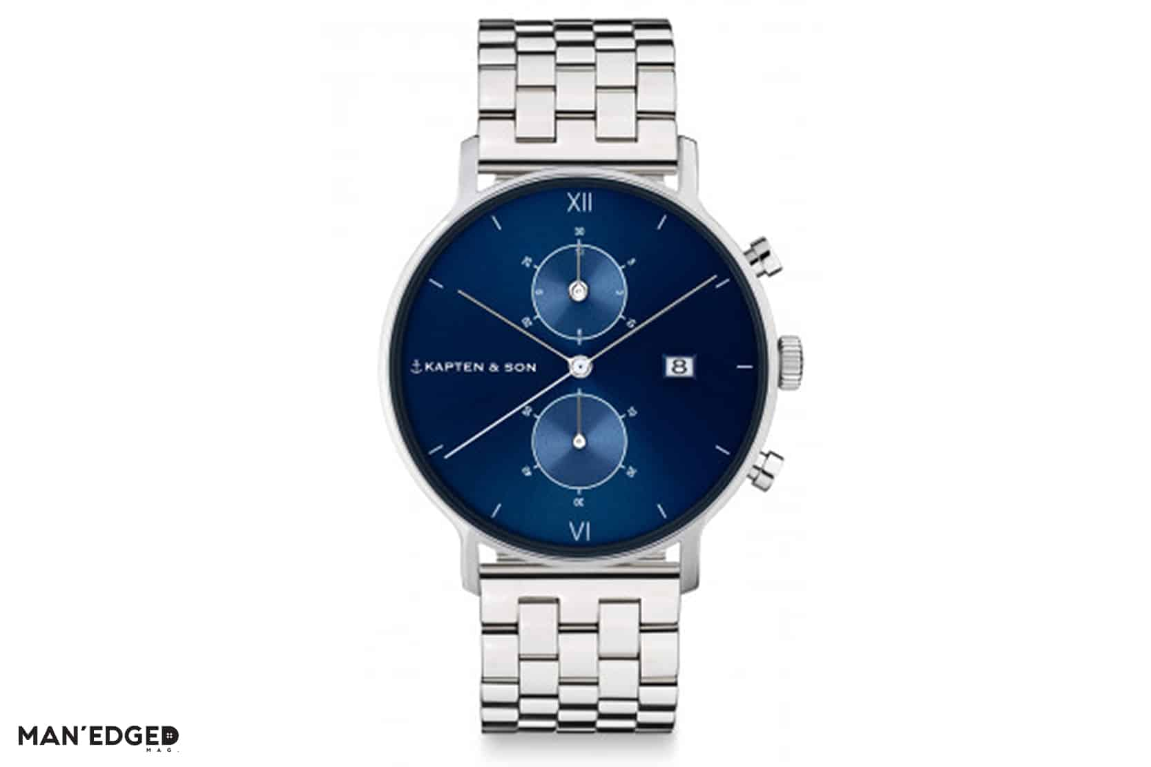 Kapten & Sons Men's Silver Watch featured in Gift Ideas for the Dapper Guy