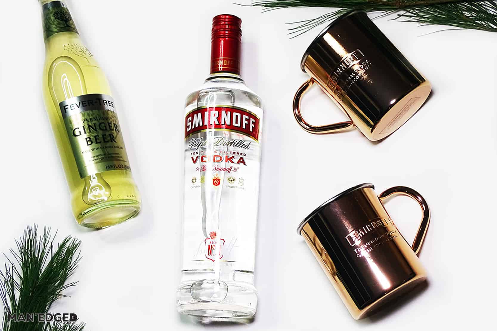 MAN'edged Magazine Holiday Gift Ideas for the Cocktail Guy featuring Moscow Mule Kit with Smirnoff
