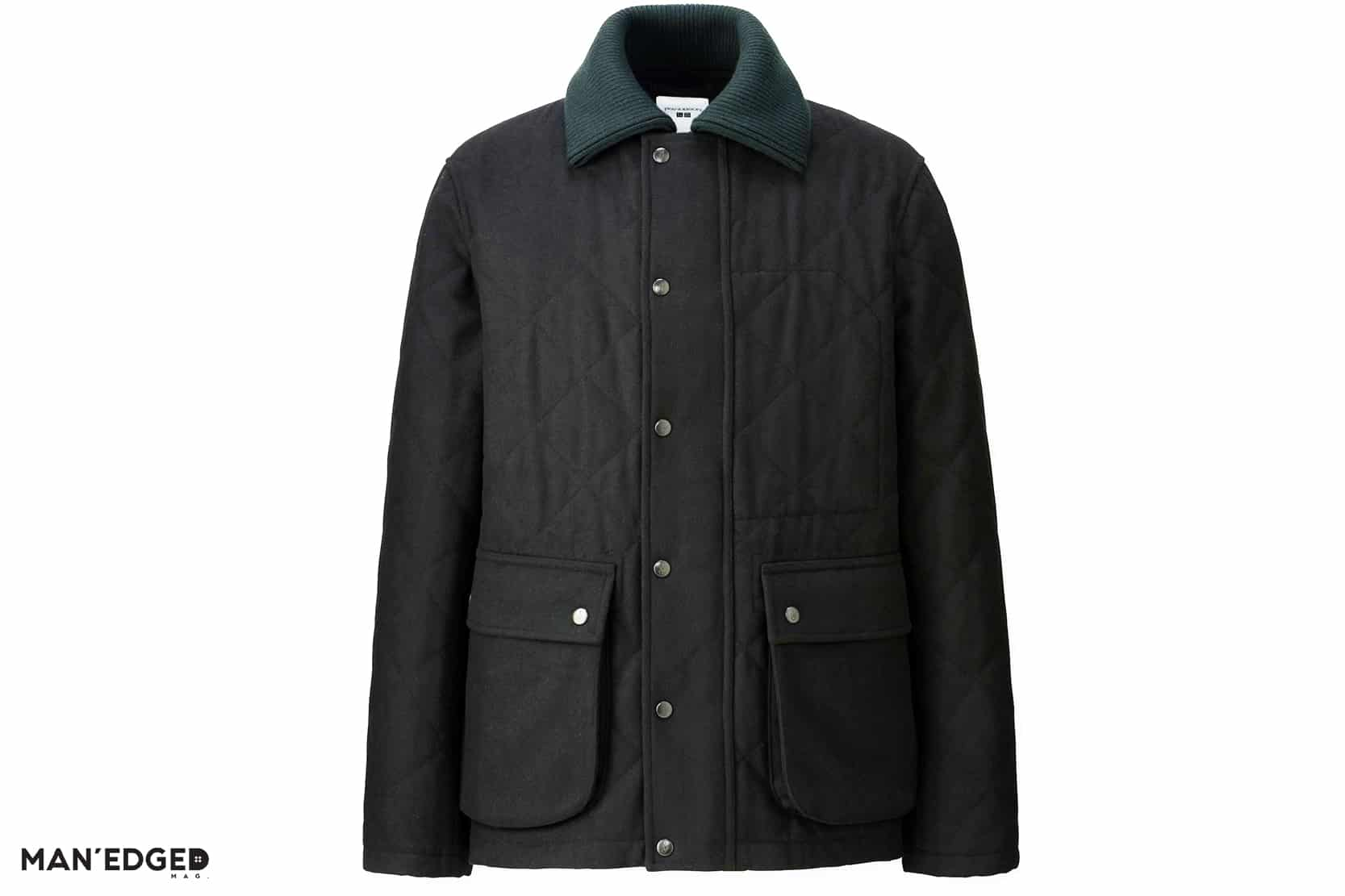 UNIQL X JW Marriot Quilted Black Men's Jacket featured in Gift Ideas for the Dapper Guy