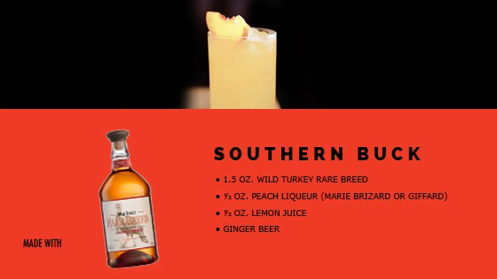 MAN'edged Magazine Recipe card featuring the Southern Buck Cocktail